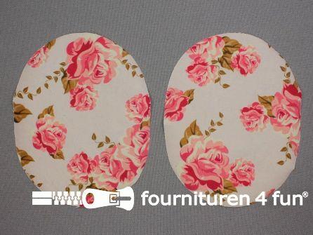 Kniestukken bloemen - roze
