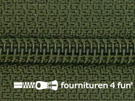 Deelbare spiraal rits nylon 5mm jagers groen