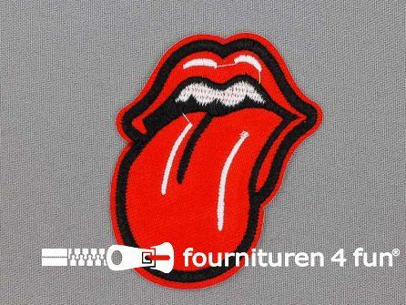 Applicatie 60x75mm tong Rolling Stones