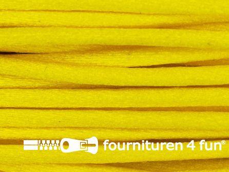 COUPON Glans koord 3mm geel - 21 meter