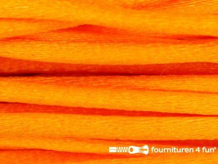 COUPON Glans koord 3mm neon oranje - 2 stukken, totaal 29 meter (25+4 meter)