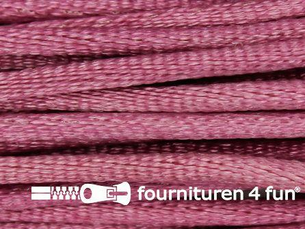 COUPON Glans koord 3mm cyclaam - 11,5 meter