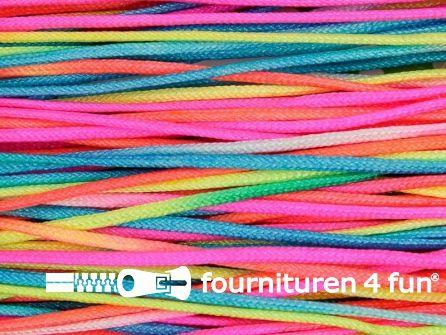 RESTANT Glans koord 2mm multicolor - 10 meter