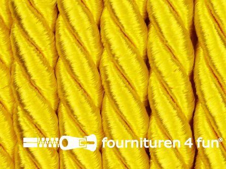 Kaart 20 meter Viscose meubel koord 8mm fel geel