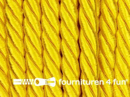 Kaart 40 meter Viscose meubel koord 5mm fel geel