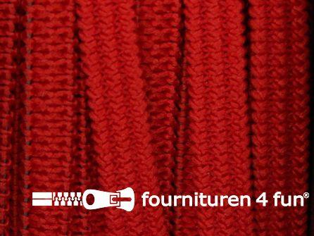 Rol 50 meter soepel elastiek 5mm rood