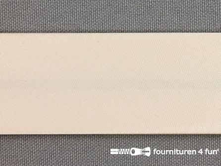 Satijnen biasband 30mm licht beige