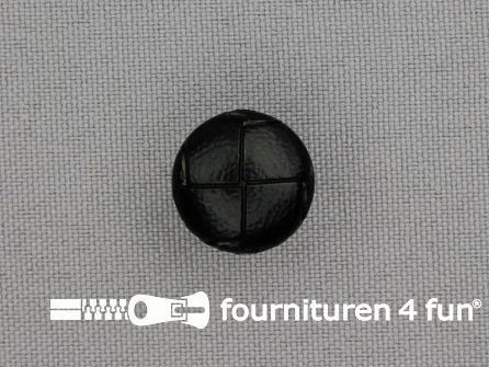 Voetbal knoop 15mm zwart