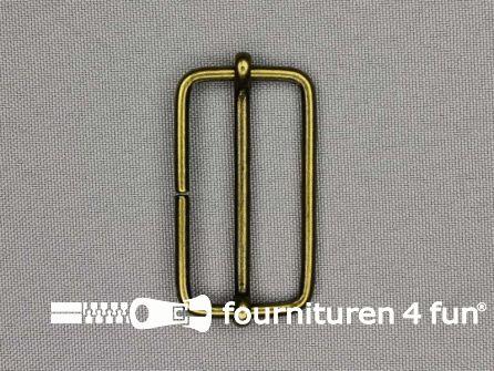 Schuifgesp 40mm brons