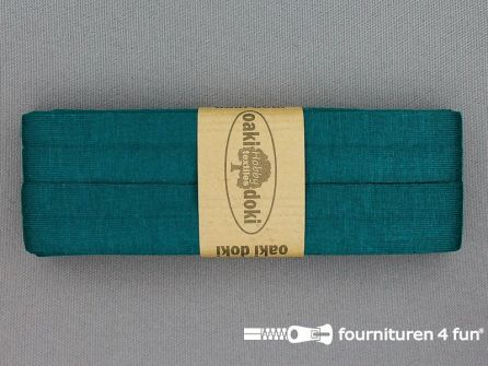 Tricot biaisband 20mm x 3 meter petrol blauw