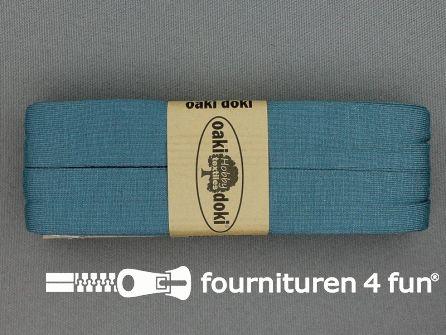 Tricot biaisband 20mm x 3 meter industrieel blauw