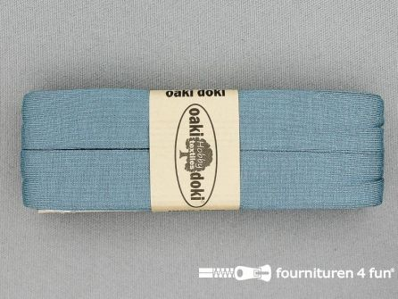 Tricot biaisband 20mm x 3 meter licht jeans blauw