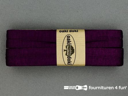 Tricot biaisband 20mm x 3 meter aubergine