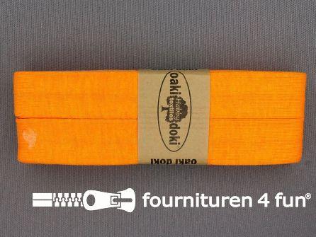 Tricot biaisband 20mm x 3 meter neon oranje
