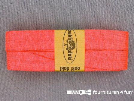 Tricot biaisband 20mm x 3 meter neon roze