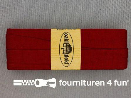 Tricot biaisband 20mm x 3 meter wijn rood