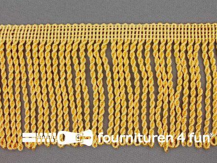 Viscose franje grof 80mm licht maïs geel