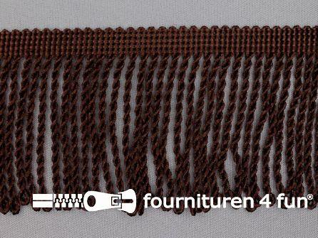 Viscose franje grof 80mm donker bruin