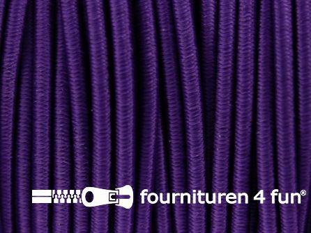 Rol 100 meter elastisch koord 2,5mm paars
