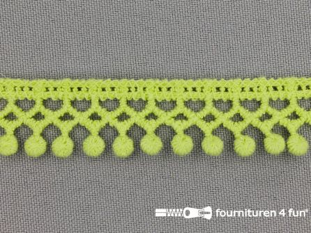 Bolletjes-kloskant 18mm lime groen