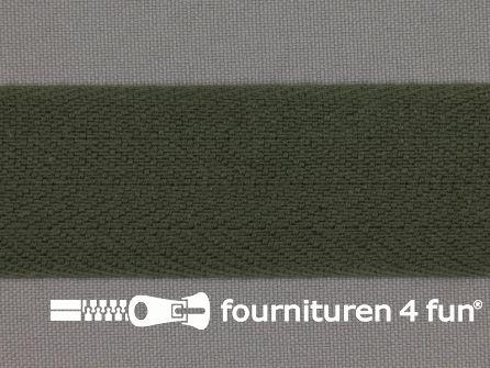 Keperband 30mm donker leger groen