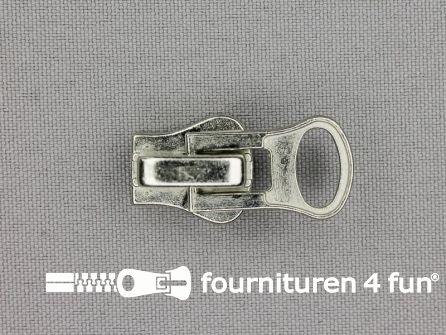Ritsschuiver - voor zware blokjesrits - Nr.8 - zilver