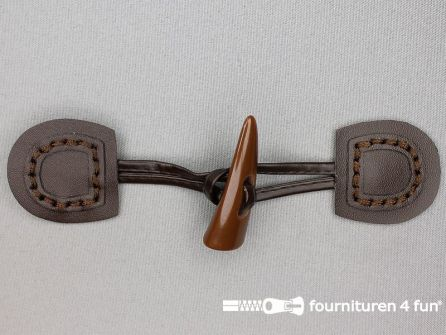 Skai houtje touwtje 50x150mm donker bruin
