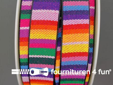 Ibiza tassenband 25mm regenboog