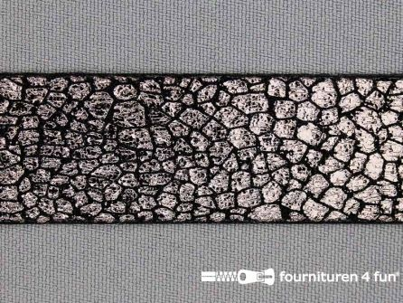 Metallic steampunk band 25mm zwart - donker koper