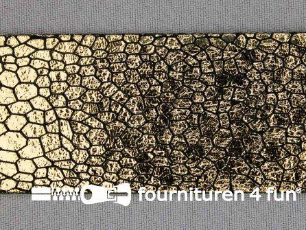 Metallic steampunk band 38 mm zwart - goud