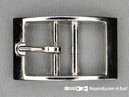 Halsband gesp 25mm staal - chroom