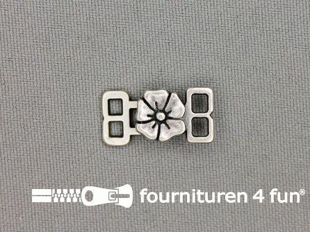 Siersluiting 10x20mm zilver