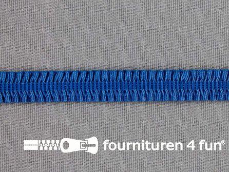Elastisch ruche band 9mm kobalt blauw