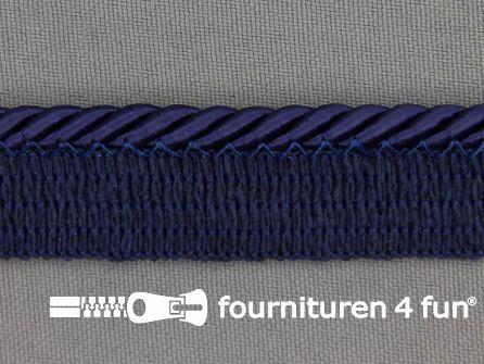 Gedraaid paspelband 18mm marine blauw