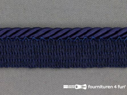 Rol 20 meter gedraaid paspelband 18mm marine blauw