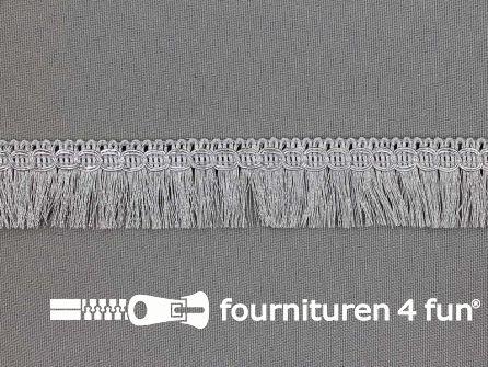 Zilver franje fijn 23mm