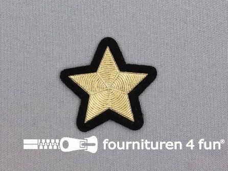 Ster applicatie 39x39mm goud metallic