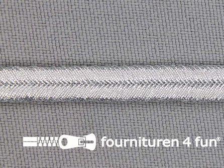 Soutache koord 6mm zilver