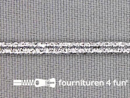 Soutache koord 3mm glans zilver