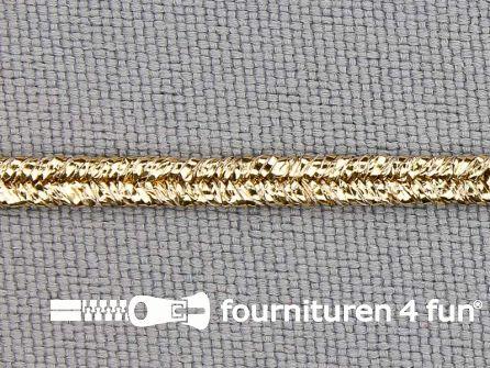 Soutache koord 3mm glans brocaat goud