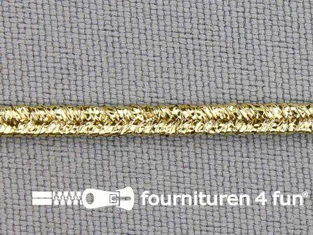Soutache koord 3mm glans geel goud