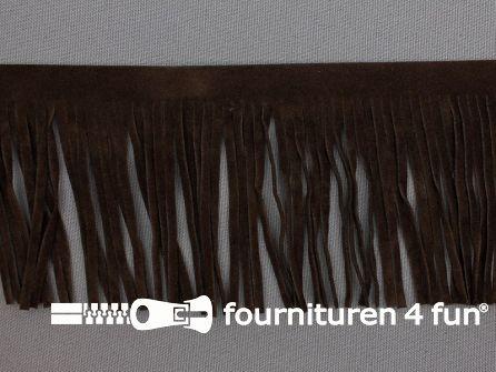 Western franje 70mm donker bruin