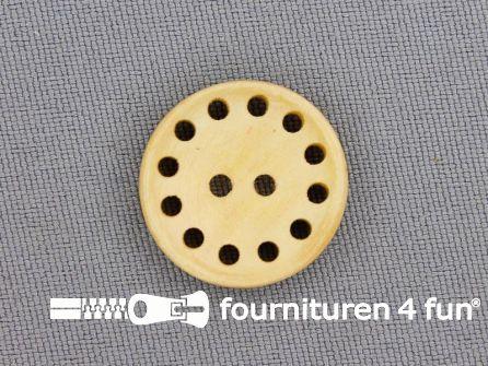 Houten knoop 20mm met gaatjes