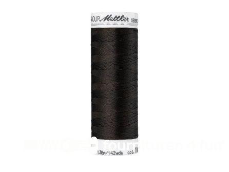 Amann Seraflex - elastisch naaigaren - heel donker bruin (1002)