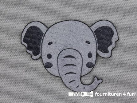 Applicatie 59x44mm olifant