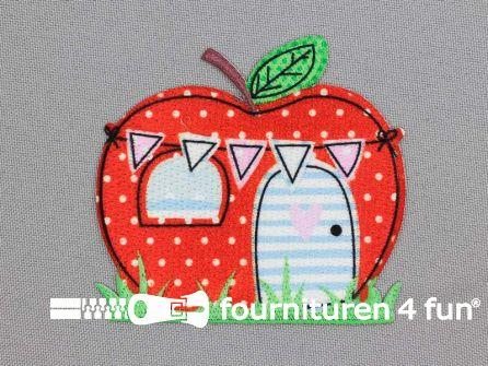 Applicatie 73x68mm appel huis