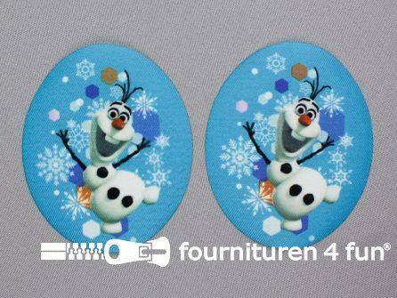 Disney Frozen applicatie 74x88mm - set 2 stuks - Olaf