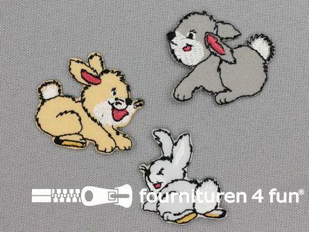 Applicatie set konijntjes