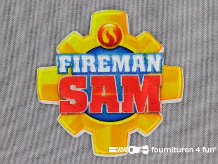Applicatie 69x69mm brandweerman Sam