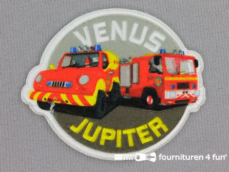 Applicatie 70x58mm brandweerman Sam - Venus & Jupiter
